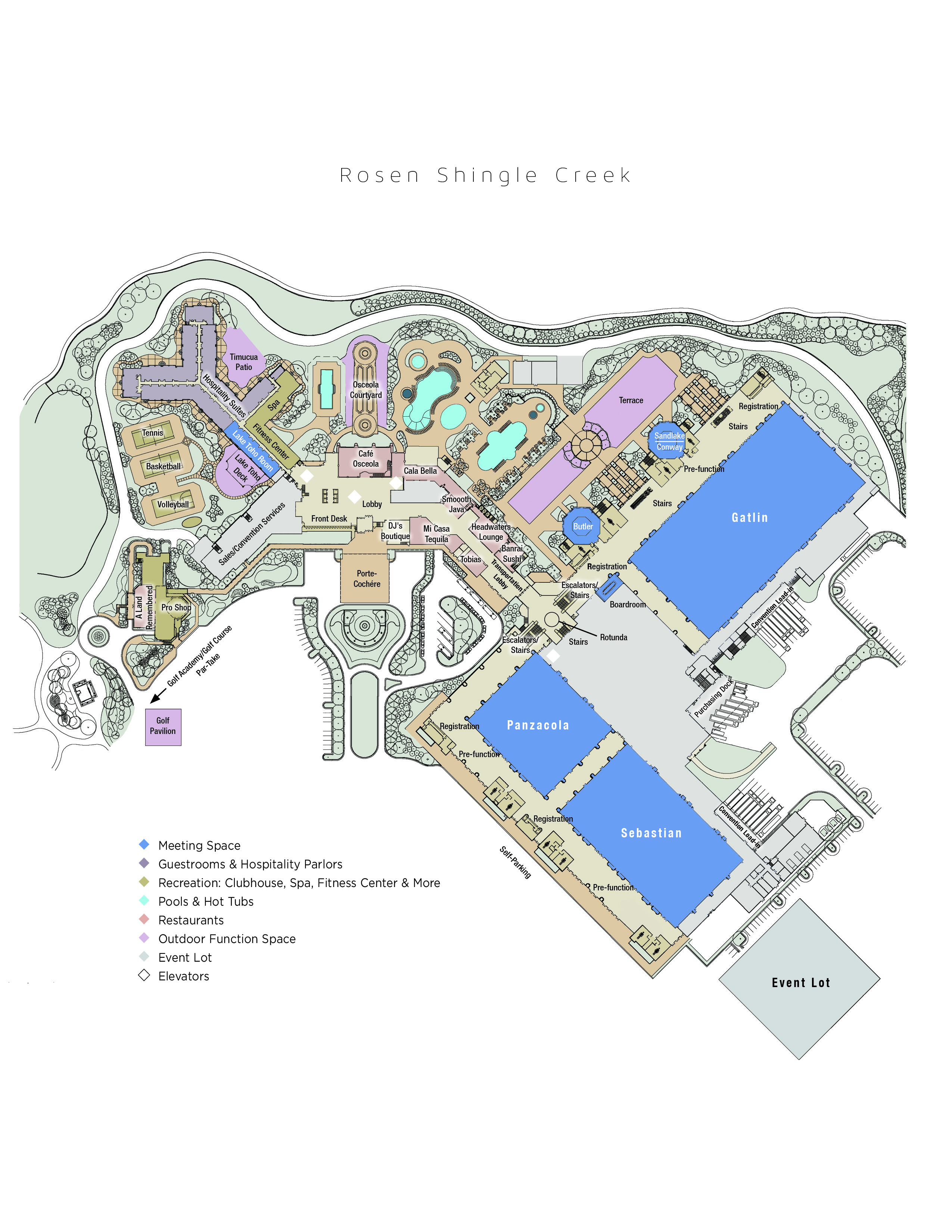 Hotel Map Rosen Shingle Creek 174