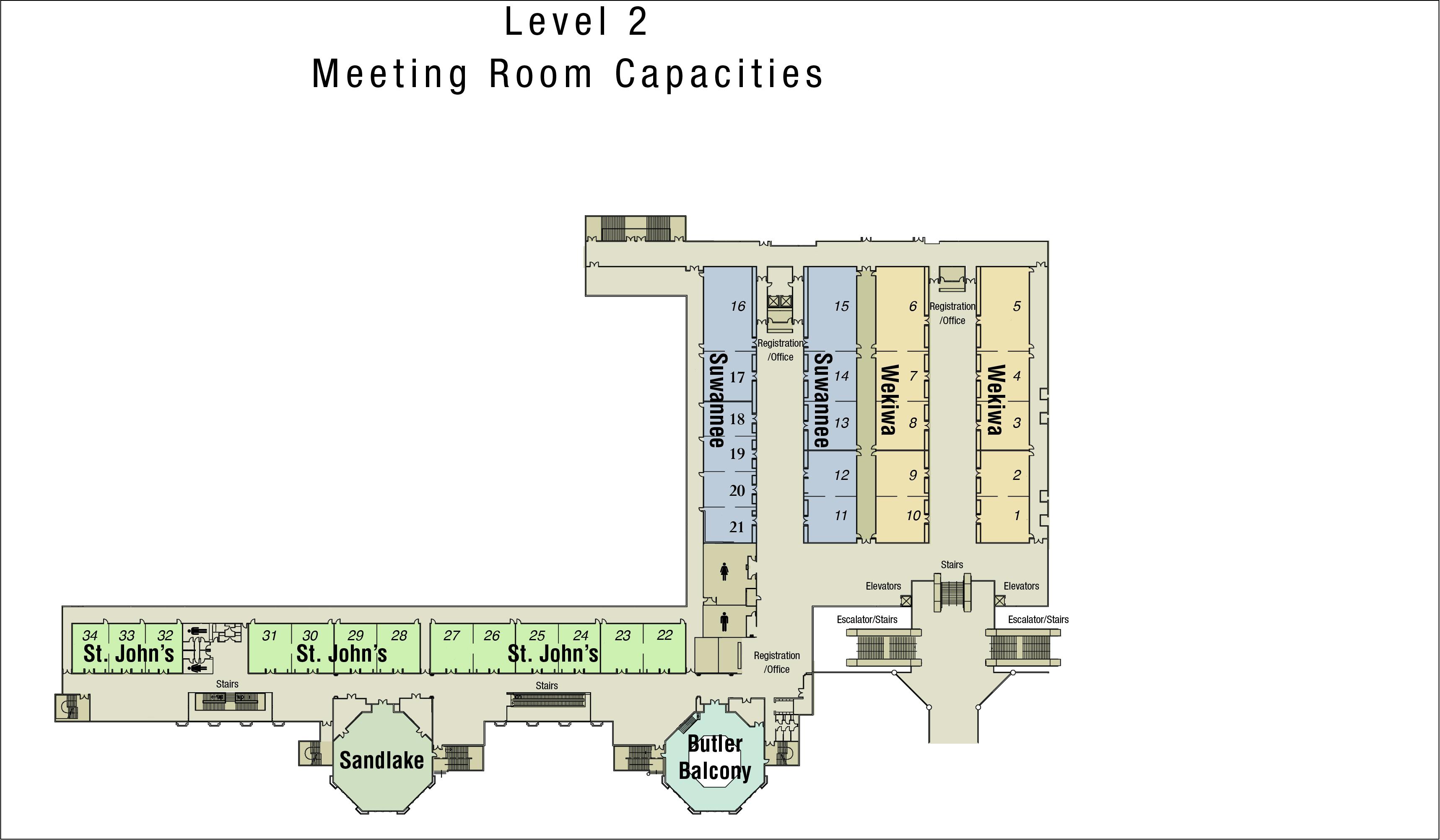 Convention Level Maps | Rosen Shingle Creek®