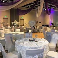 Wedding Table Set Up in Ballroom