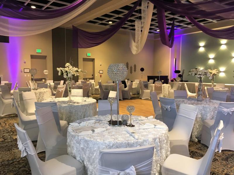 Wedding Table Set Up in Ballroom