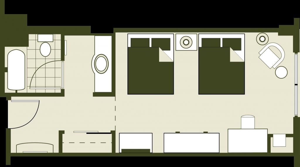 Double Queen Floor Plan