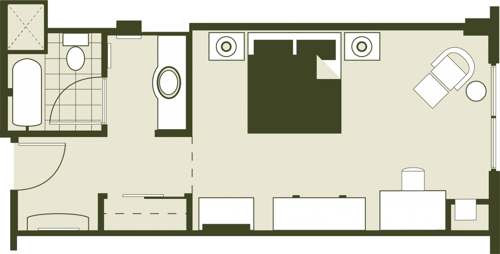 King Accommodations Floor Plan