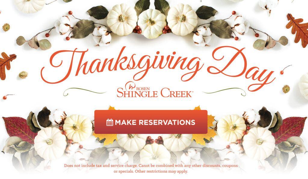 Rosen Shingle Creek Orlando Thanksgiving Brunch