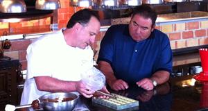 Pastry Chef David Ramirez and Emeril Lagasse