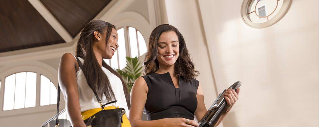 Business Women Talking